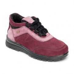 JUMP Ladies Leather Waterproof Extra Wide/Plus Boots Plum