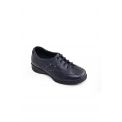 Padders KAREN 2 Ladies Leather Super Wide (4E/6E) Trainers Navy