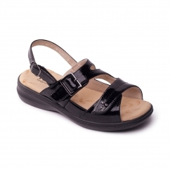 Padders LAURA 2 Ladies Other Extra Wide (3E) Sandals Patent Black