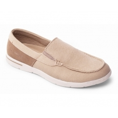 LEE Mens Leather Slip On Loafer Shoes Buff Beige