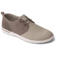 Padders LIAM Mens Canvas Lace Up Trainer Shoes Buff Taupe