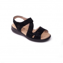 Padders LOUISE 2 Ladies Other Extra Wide (3E) Sandals Black Reptile