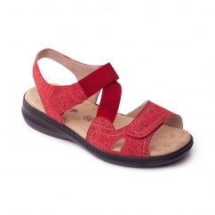 Padders LOUISE 2 Ladies Other Extra Wide (3E) Sandals Red