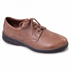 LUNAR Mens Leather Wide (G/H) Shoes Taupe
