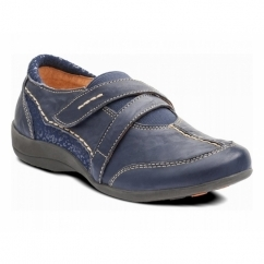 Padders MAPLE Ladies Leather Wide (E Fit) Shoes Navy