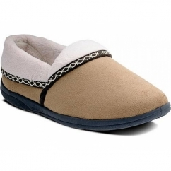 Padders MELLOW Ladies Fleece Extra Wide (2E) Full Slippers Camel