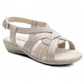238085484fe Padders SHORE Womens Nubuck Wide Velcro Flat Sandals Beige