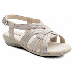Padders PANDORA 2 Ladies Leather Wide (E Fit) Sandals Nude