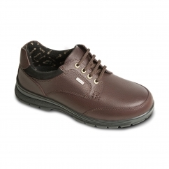 PEAK Ladies Waterproof Leather Extra Wide Plus Boots Brown