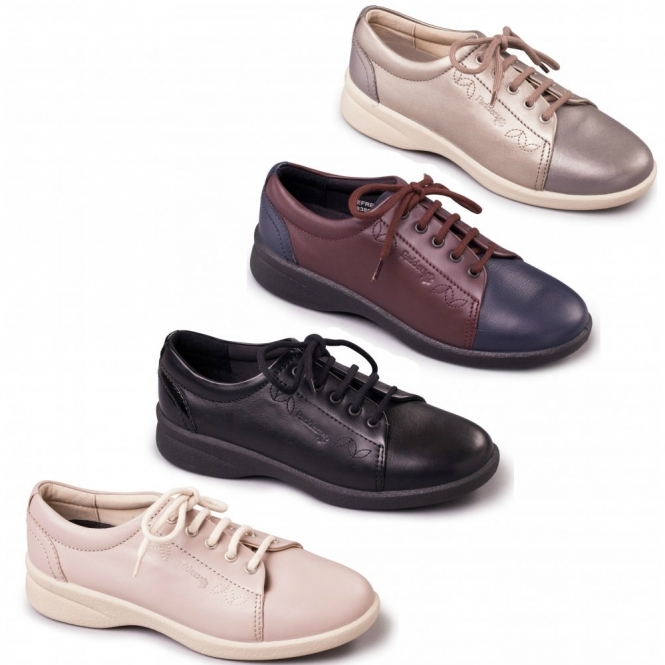 1a931cc94e93 Padders Plus+ REFRESH 2 Ladies Leather Extra Wide (3E 4E) Shoes Navy