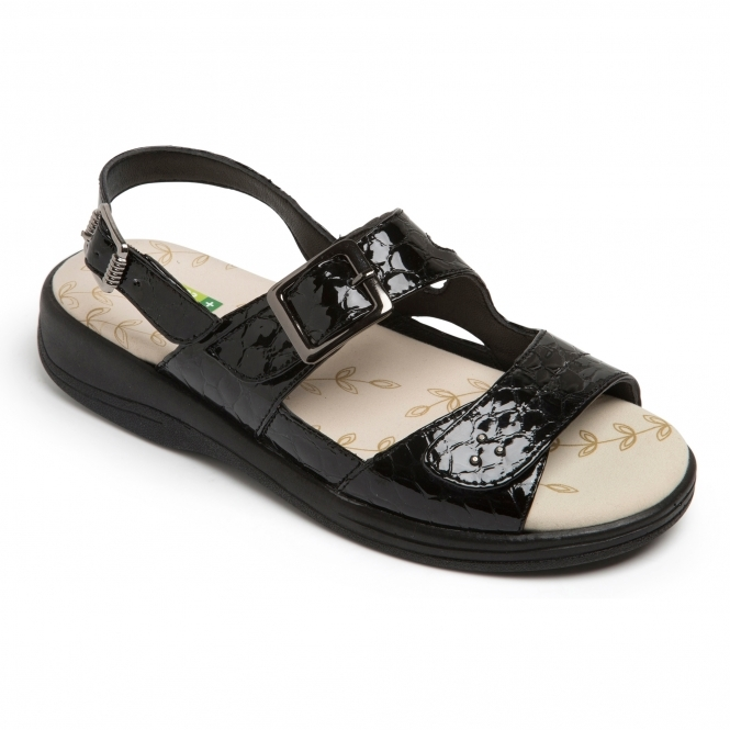 26203b90d1f Padders SUNRAY Ladies Extra Wide (3E 4E) Fit Sandals Black