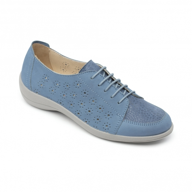d599b39f5be8 Padders RAMONE Ladies Leather Wide (E Fit) Shoes Blue