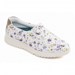 Padders RE-GROW Ladies Textile Extra Wide (2E) Pumps Purple