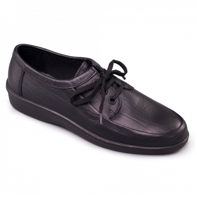 Padders REBEL Mens Leather Lace-Up Shoes Black