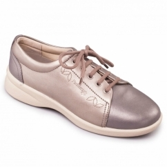REFRESH 2 Ladies Leather Extra Wide (3E/4E) Shoes Metallic