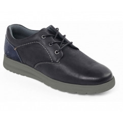 REGAIN Mens Leather Extra/Wide fit Lace Up Shoes Black