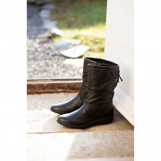 219421d4785 REGAN Ladies Leather Wide (E Fit) Calf Boots Black