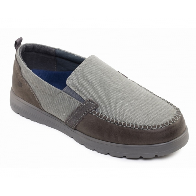 affordable price new arrival pre order REPEAT Mens Leather Wide (G Fit) Loafers Grey