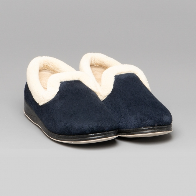 2E Padders MELLOW Ladies Womens Warm Soft Fleece Extra Wide Fit Full Slippers