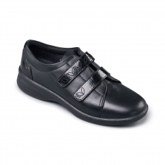 REVIVE 2 Ladies Leather Extra Wide (3E/4E) Shoes Black Patent