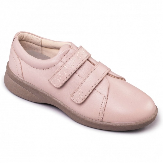 clear and distinctive new cheap first look REVIVE 2 Ladies Leather Extra Wide (3E/4E) Shoes Nude