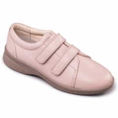 REVIVE 2 Ladies Leather Extra Wide (3E/4E) Shoes Nude