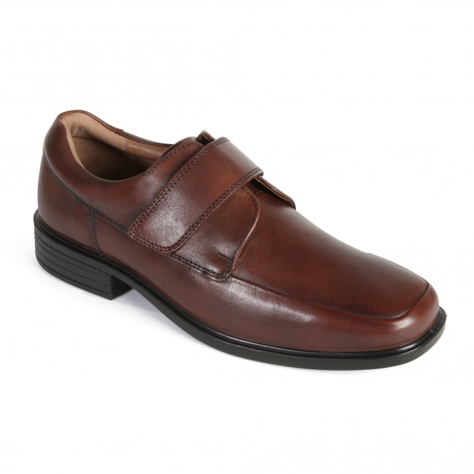 padders richard mens leather wide touch shoes brown