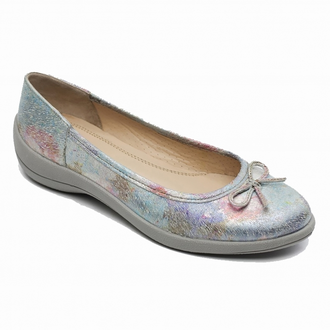 af8e20847ad1 Padders ROXY Ladies Leather Wide (E Fit) Shoes White Rainbow