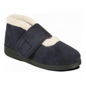 a7b4b4f47801 Padders CAMILLA Ladies Extra Wide Slippers Denim Blue