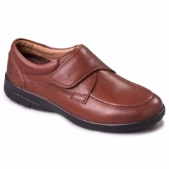 SOLAR Mens Leather Wide (G/H) Shoes Tan