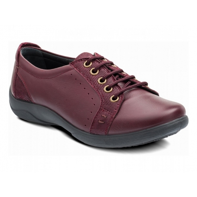Padders SONNET Ladies Leather Extra Wide (3E/4E) Shoes Plum