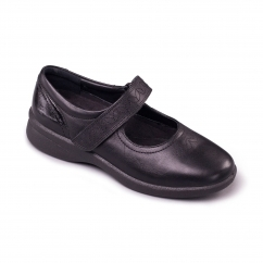 SPRITE 2 Ladies Leather Extra Wide (3E/4E) Shoes Black Patent