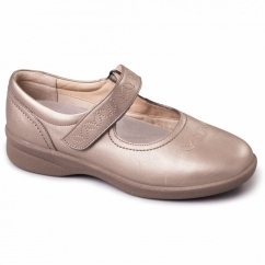 SPRITE 2 Ladies Leather Extra Wide (3E/4E) Shoes Pewter