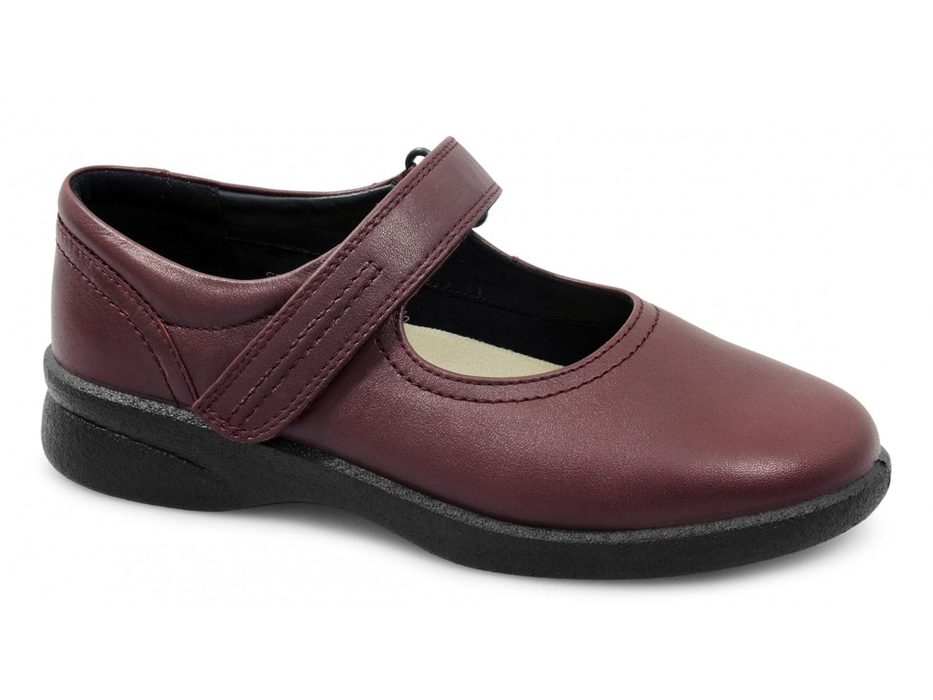 5d7abfa5889 Padders SPRITE Ladies Leather Extra Wide (3E/4E) Shoes Cherry Red