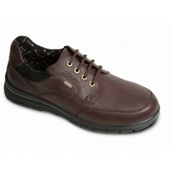TERRAIN Mens Waterproof Leather Dual Fit Lace Up Shoes Brown