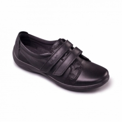 VERSE Ladies EEE/EEEE Extra Wide Fit Touch Fasten Shoes Black