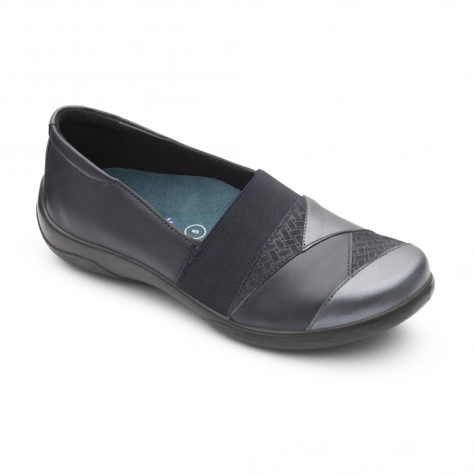 Padders VIOLIN Ladies Leder Extra Wide (2E Schuhes 3E) Schuhes (2E Navy   Shuperb 453a9c