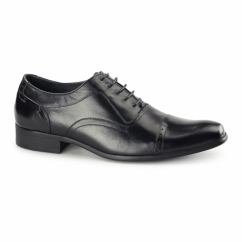 PADOVA Mens Leather Oxford Shoes Black