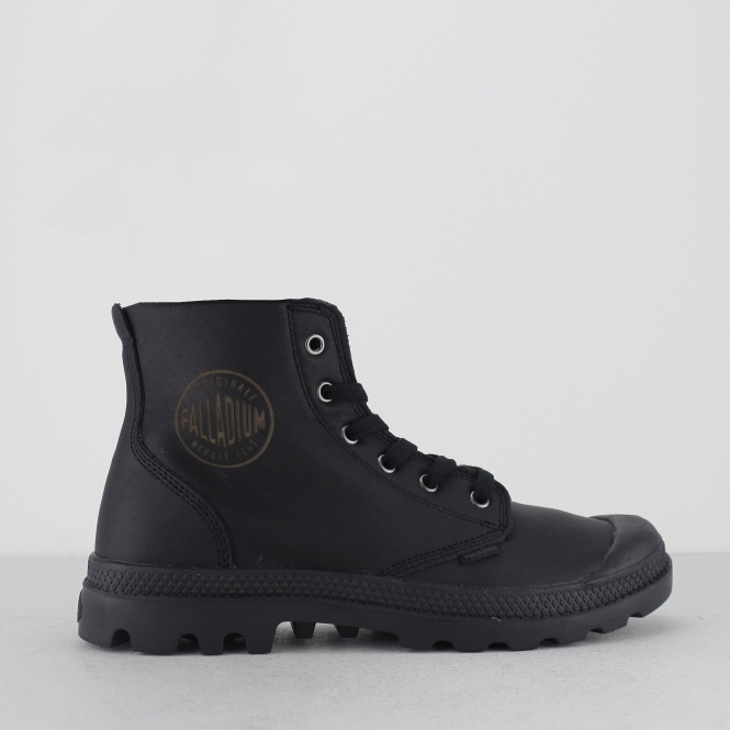 Palladium PAMPA HI LEATHER Mens Lace Up Ankle Boots Black