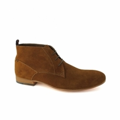 RAVEN Mens Suede Leather Chukka Boots Rust