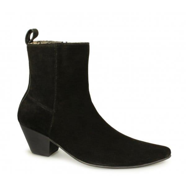 Paolo Vandini Veer 12 Suede Winklepicker Cuban Heel Boots