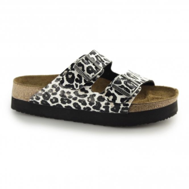 ba2b8fb9ba0 Papillio ARIZONA 1005061 Ladies Two Strap Sandals Leopard White ...