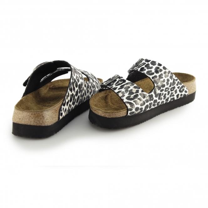9b4e0d4bb04 Papillio By Birkenstock ARIZONA 1005061 (Nar) Ladies Birko-Flor Two Strap  Sandals Leopard