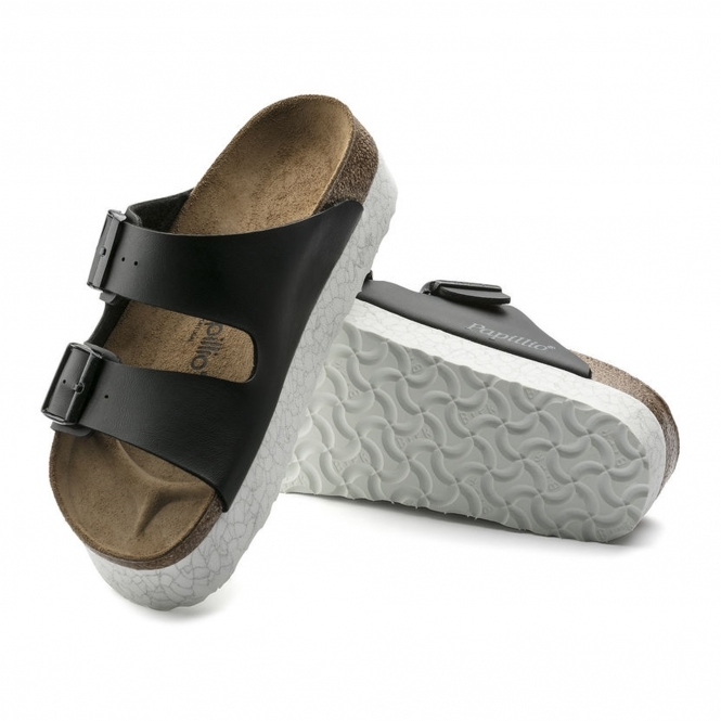 7eb38e4ecf7 Papillio by Birkenstock ARIZONA Ladies Buckle Mule Sandals Marble Black