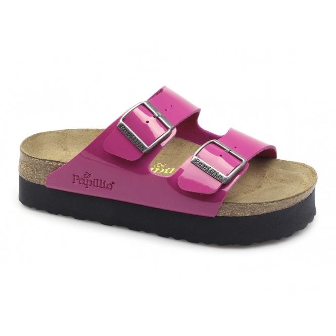 ff76227a36dd8 Papillio ARIZONA 363893 Ladies Two Strap Sandals Pink Black