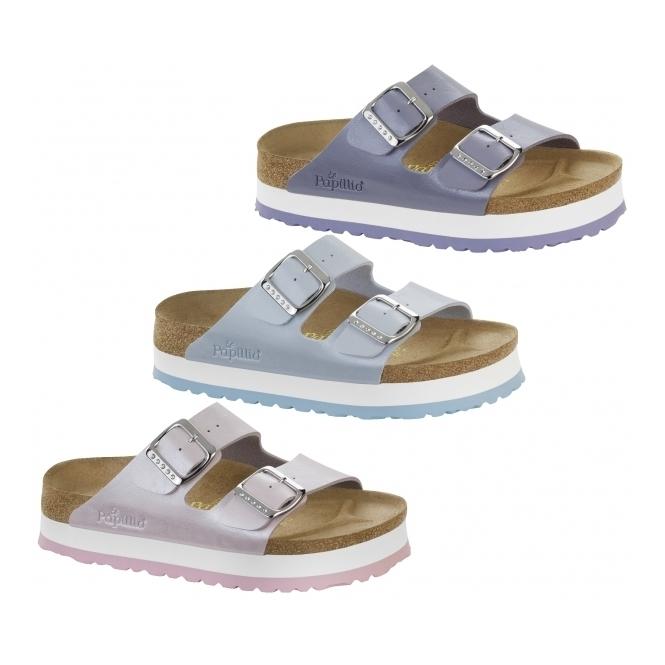 2beede1ff7d0 Papillio By Birkenstock ARIZONA 364113 (Nar) Ladies Birko-Flor Two Strap  Sandals Graceful