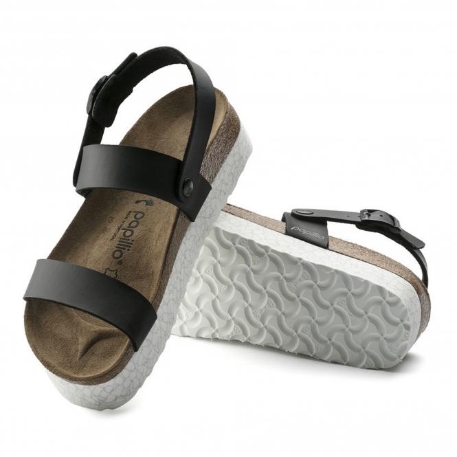 2eb916ecabc Papillio CAMERON 1009060 Ladies Two Strap Sandals Marble Black