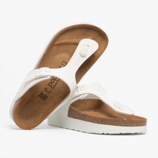 GIZEH 1013580 (Reg) Ladies Birko Flor Toe Post Sandals White