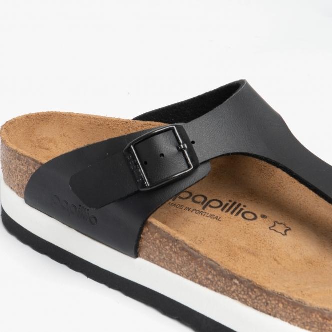 GIZEH 1014979 (Reg) Ladies Birko Flor Toe Post Sandals Black