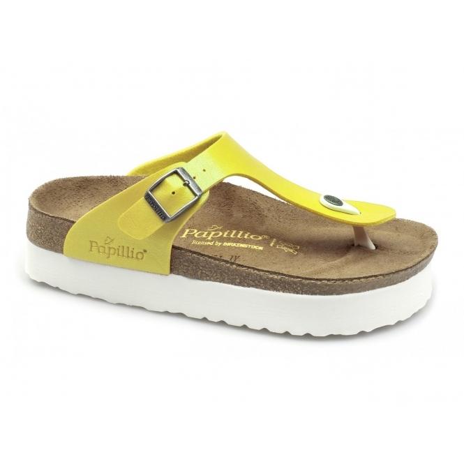 57d5eec9e6a Papillio GIZEH 304581 Ladies Toe Post Sandals Yellow White
